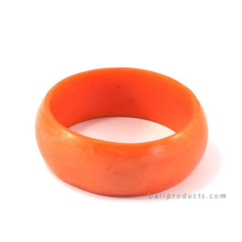Wood Bangle Dot Pink