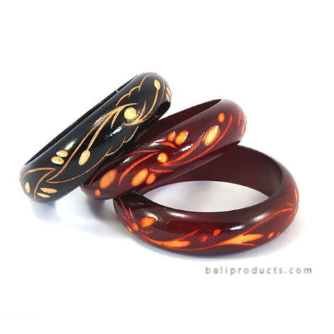 Wood Bangle Carving Motif