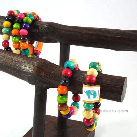 Wood Bead Bracelet Mix Colors