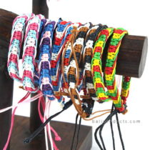 Set 12 Rasta Leather Bracelet