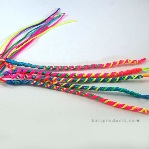 Set 5 Nylon Bracelet Multicolor