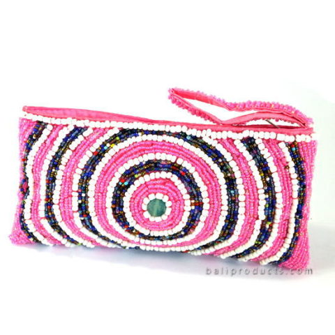 Beads Pouch In Round Circle Motive In Different Colors