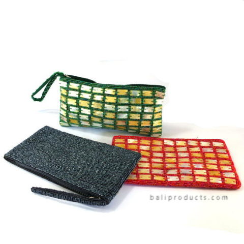 Beads Pouch With Penshell And Handle
