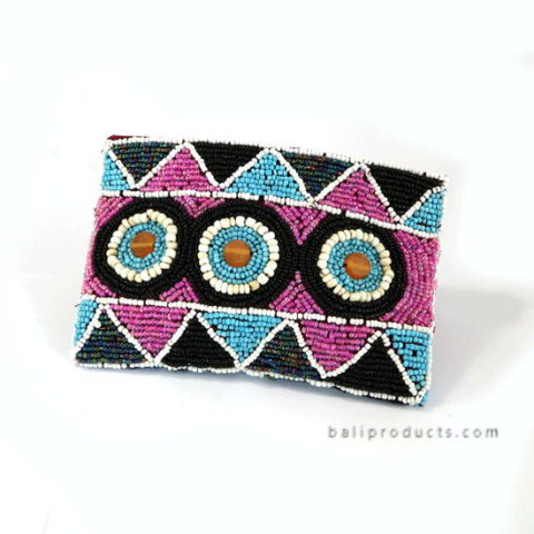 Beads Pouch Small Round Triangle Motive