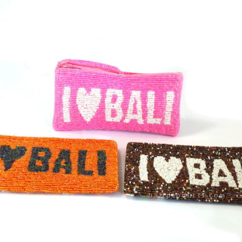 Beads Pouch 'I Love Bali'