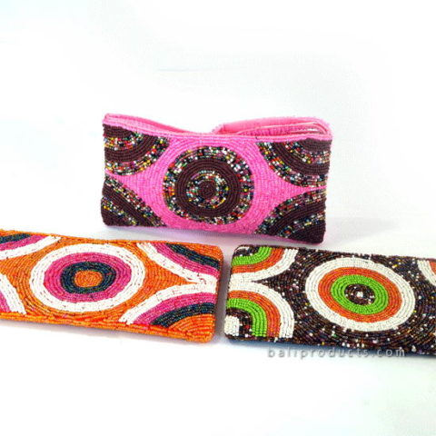 Beads Pouch Circle Motive