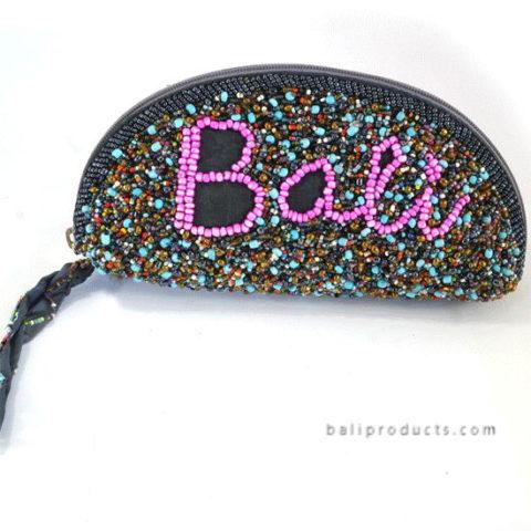 Beads Half Round Pouch 'BALI' Motive