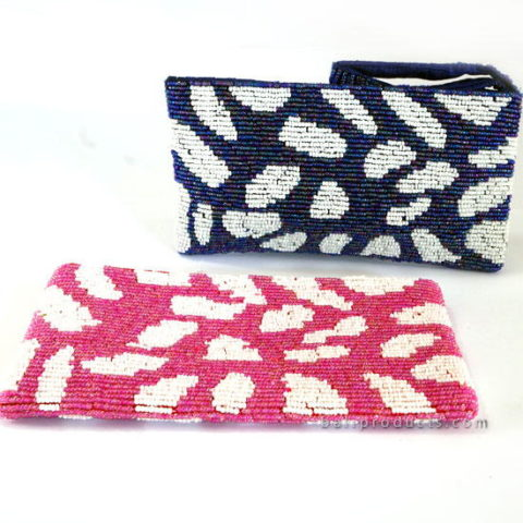 Beads Pouch M With Mozaic Motif