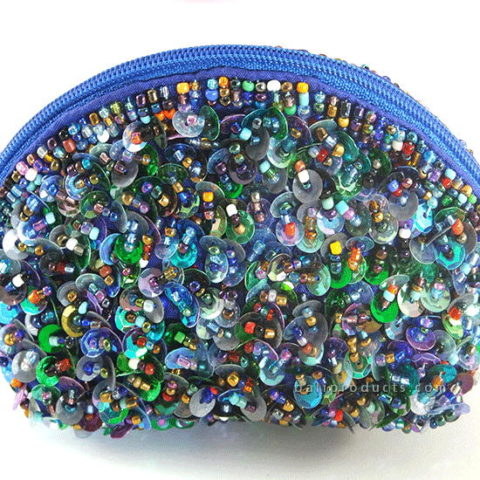 Beads Half Round Pouch Small 3D