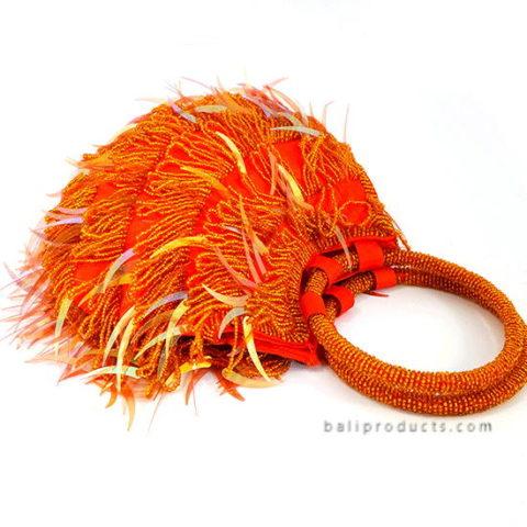 Beads Handbag Small Circle Handle