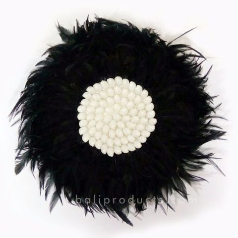 Circle Feather Black
