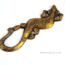 Gecko Wall Hanging Gold Small
