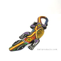 Gecko Wall Hanging Rasta Small