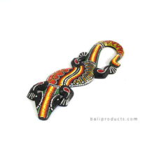 Gecko Wall Hanging Rasta Medium