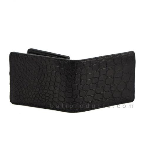 Canggu n co Man Wallet Crocodile Leather Black