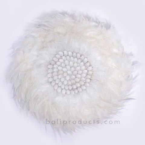 Circle Feather White