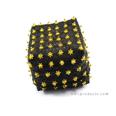 Bamboo Box Black With Beads