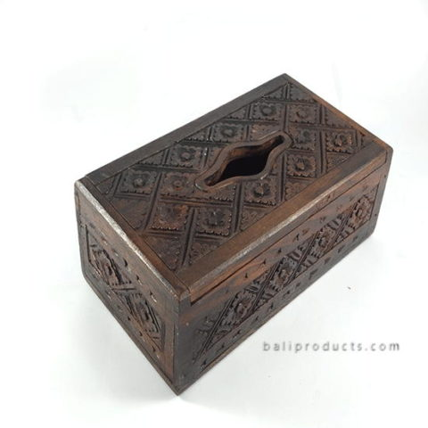 Carving Wood Tissue Box