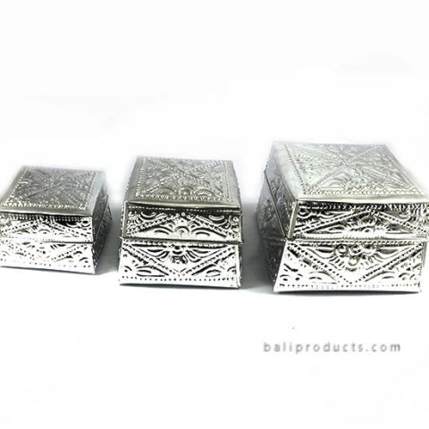 Set 6 Aluminium Carving Box