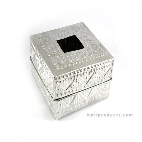 Aluminium Carving Tissue Box Square