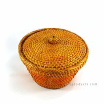 Lombok Rattan Round Basket With Lid