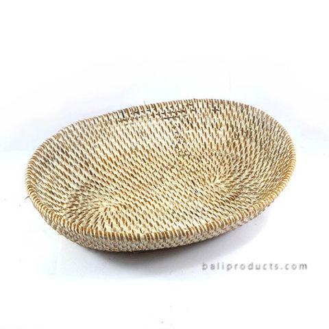 Lombok Oval Tray White Washed