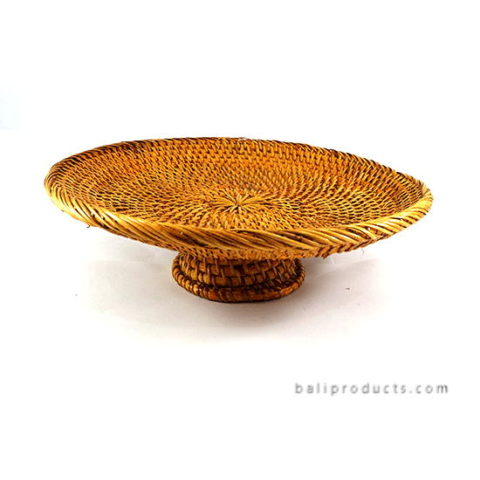 Lombok Rattan Round Tray Light Brown